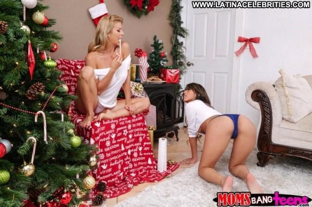 Sophia Leone Sneaky Santa Pornstar Stunning Brunette Hot Celebrity