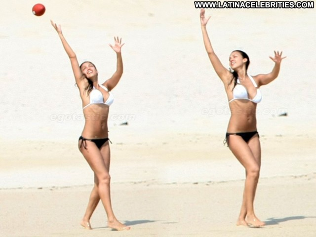 Jessica Alba Beach Babes Cute Skinny Latina Celebrity Medium Tits