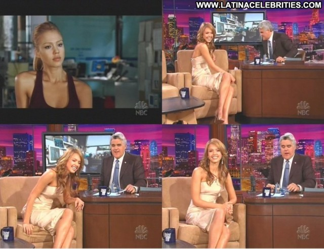 Jessica Alba The Tonight Show Brunette Medium Tits Skinny Latina