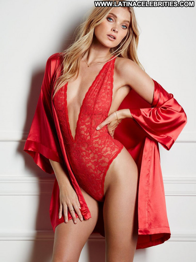 Elsa Hosk No Source Sexy Lingerie Posing Hot Babe Celebrity Beautiful