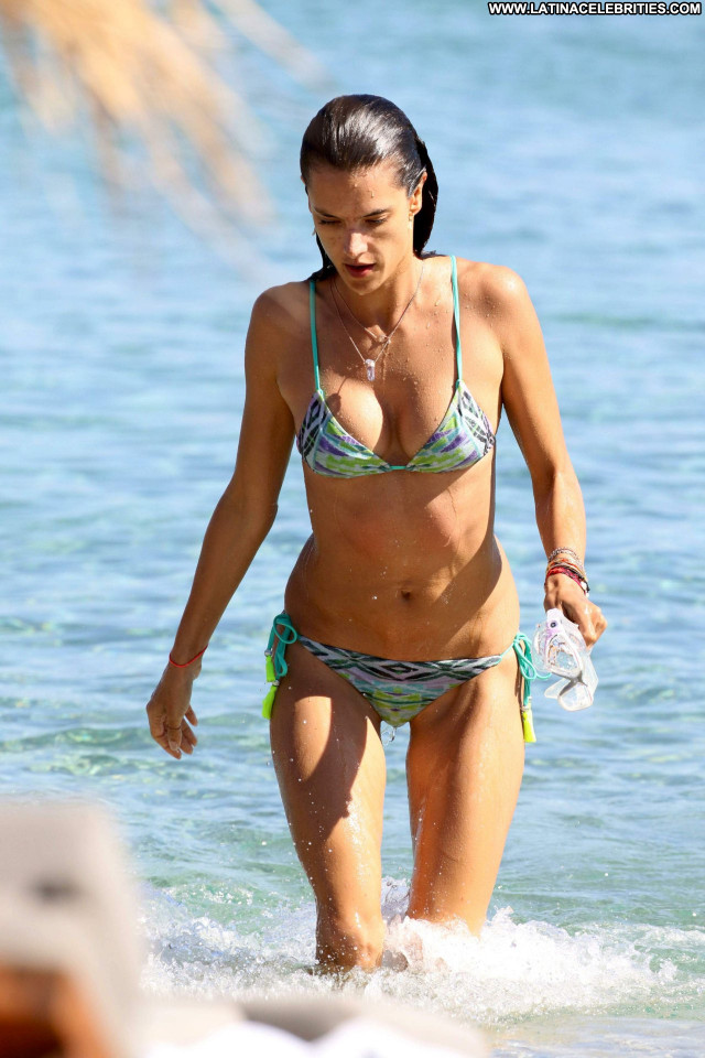 Alessandra Ambrosio No Source Posing Hot Babe Ibiza Celebrity Candids