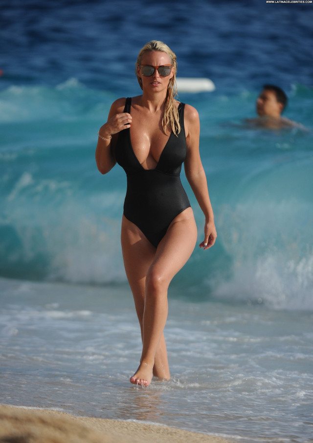 Rhian Sugden The Beach Swimsuit Glamour Beautiful Babe Beach Big Tits