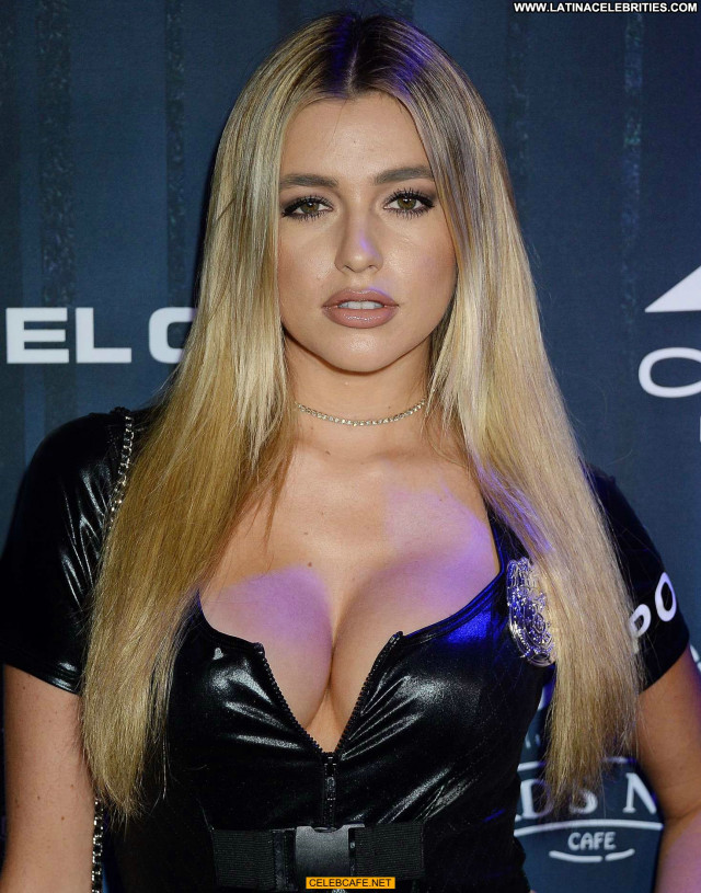 Monica Sims Halloween Party Beautiful Babe Celebrity Cleavage Sex