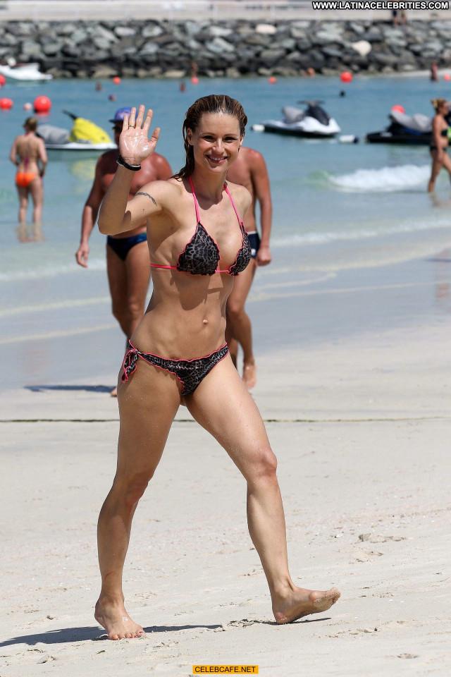 Michelle Hunziker No Source  Bikini Babe Beautiful Celebrity Beach
