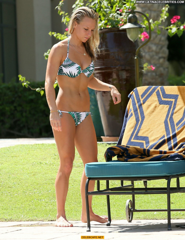 Chloe Madeley No Source Bikini Posing Hot Celebrity Poolside Pool