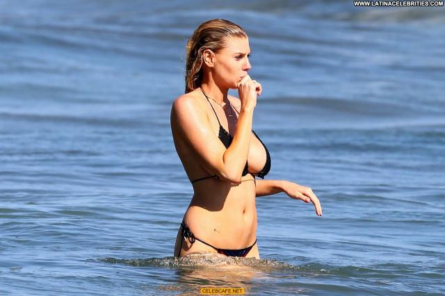 Charlotte Mckinney No Source Celebrity Bikini Side Of Boob Mali Babe