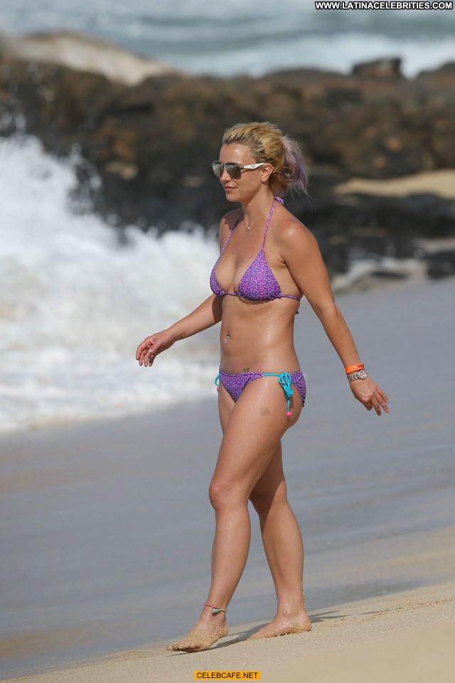 Britney Spears No Source Bikini Beautiful Sex Celebrity Beach Hawaii
