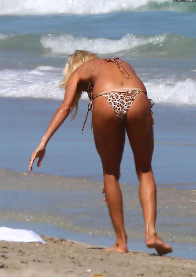 Victoria Silvstedt The Beach Bikini Sexy Posing Hot Celebrity Beach
