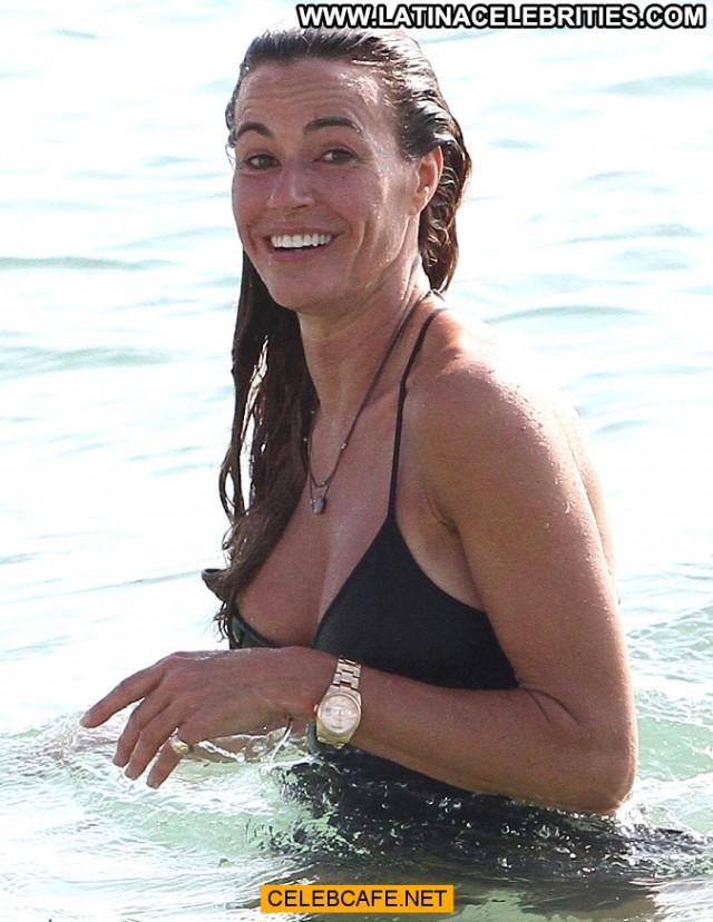 Kelly Bensimon No Source Nipple Slip Black Bodysuit Celebrity Posing