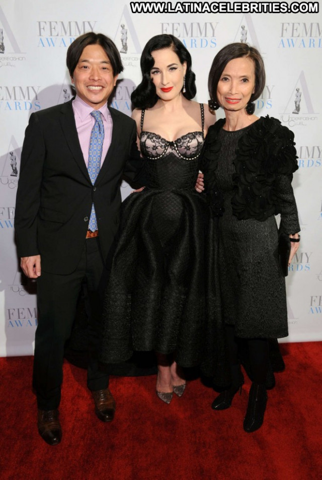 Dita Von Teese Emmy Awards Babe Awards Beautiful New York Celebrity