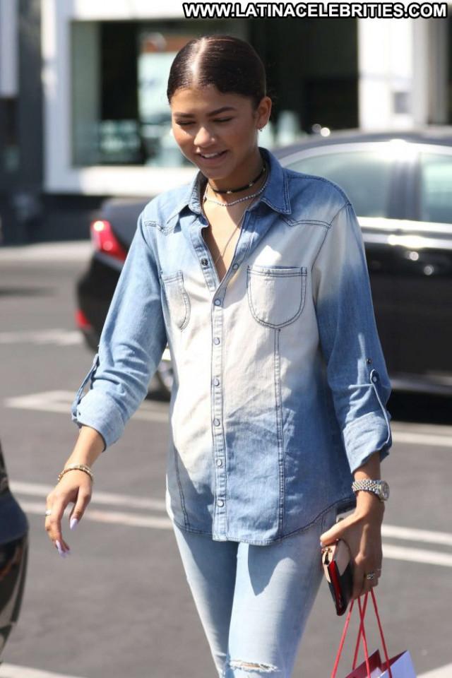 Zendaya West Hollywood Hollywood Shopping Paparazzi Babe West