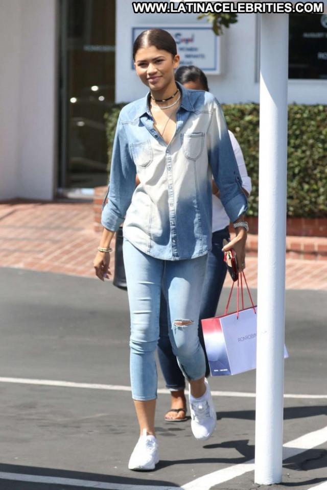 Zendaya West Hollywood Posing Hot Beautiful West Hollywood Babe