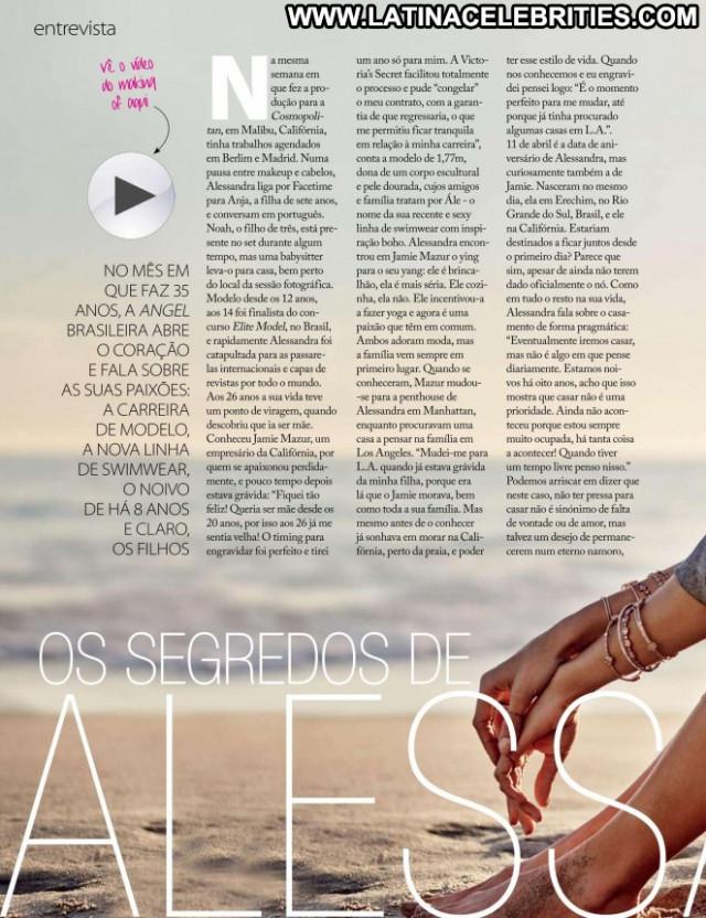 Alessandra Ambrosio Celebrity Posing Hot Paparazzi Portugal Beautiful