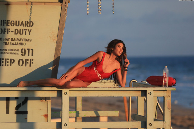 Angela Rei The Beach In Malibu Posing Hot Swimsuit Beach Park