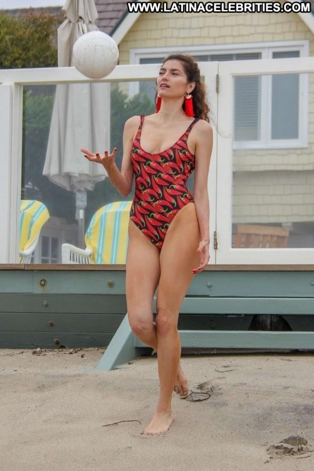 Blanca Blanco No Source Swimsuit Paparazzi Beautiful Beach Posing Hot