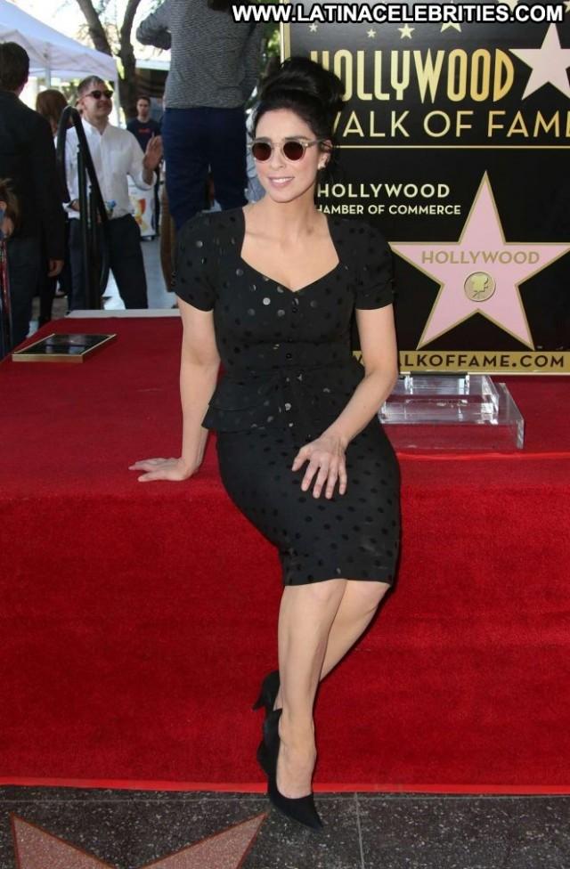 Sarah Silverman Hollywood Walk Of Fame Hollywood Posing Hot Celebrity