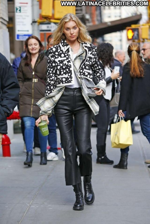 Elsa Hosk New York Leather Celebrity Pants New York Paparazzi Babe